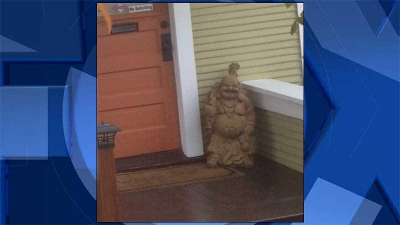Stolen Buddha statue (Photo: Angie Alvarado/KPTV)