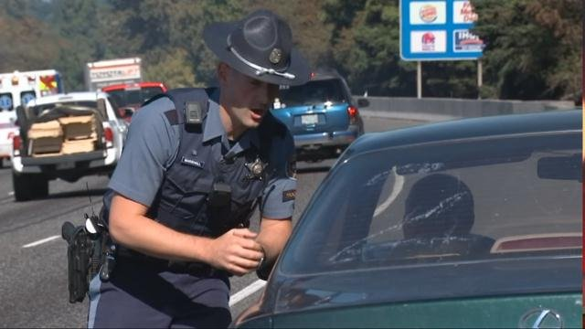 Compared to other states, Oregon has shortage of troopers to enforce distracted driving law