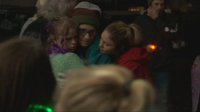 Vigil held in Amity to remember mother, daughter killed in fire