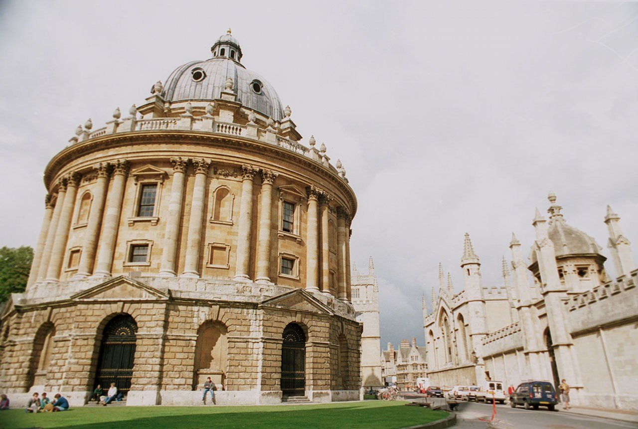 This general view shows the Radcliffe Camera at University of Oxford in England, Sept. 24, 1987. (AP Photo/Gillian Allen)