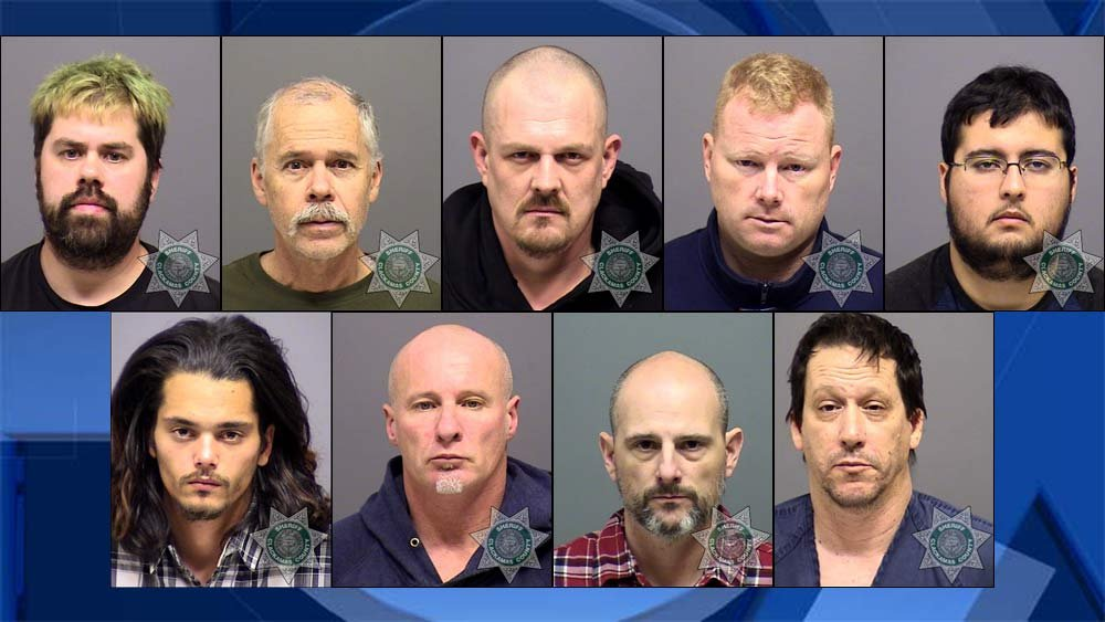 Suspects arrested during Operation Kidsafe in Clackamas County. (Jail booking photos)