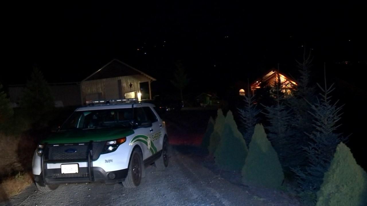 Scene of last month's shooting near Kelso. (KPTV)