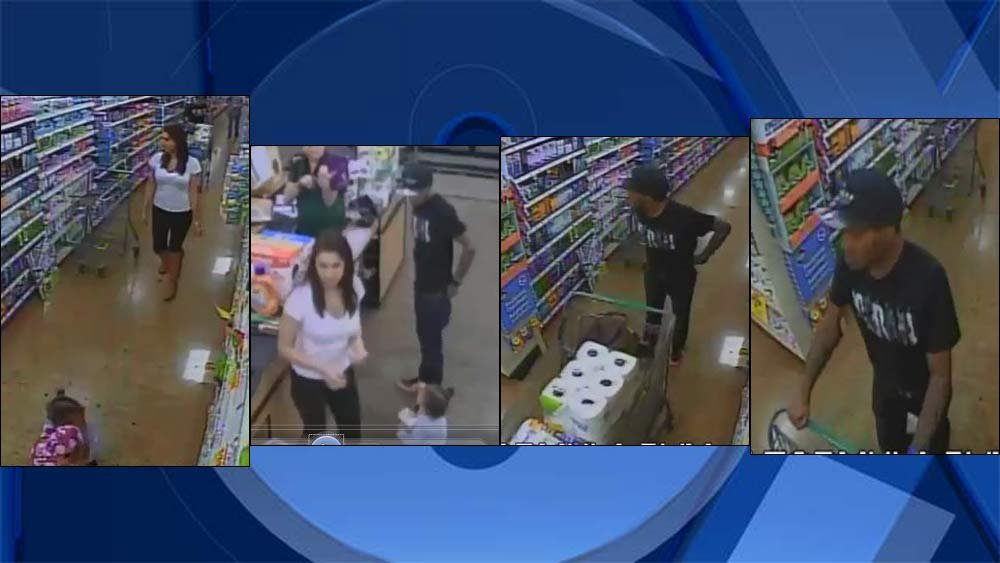 Surveillance images of Fred Meyer theft suspects in Vancouver (Crime Stoppers of Oregon)