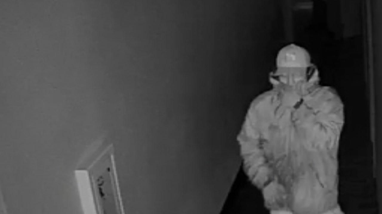 Surveillance image of Salem burglary suspect. (KPTV)