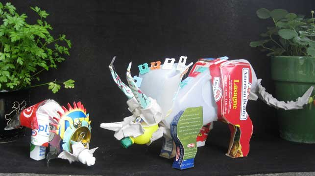 GRAND PRIZE WINNER: Trashceratops and Recyclosaurus, by Marcus Lake