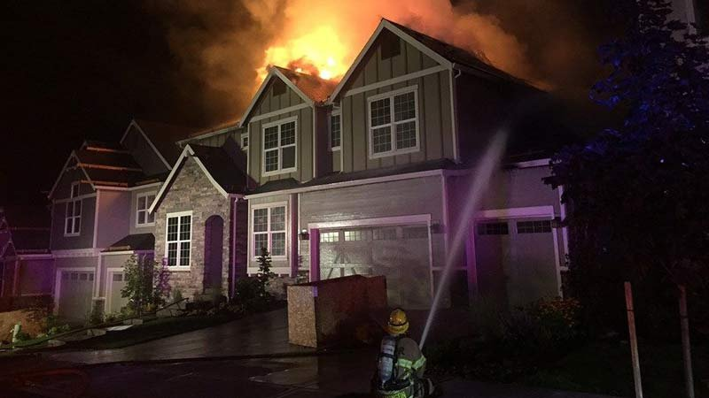 Fire in Bethany area on Aug. 16. (Tualatin Valley Fire & Rescue)