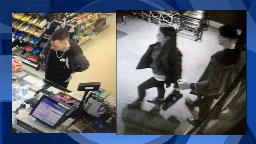 Surveillance images of theft suspects. (Oregon City Police Department)