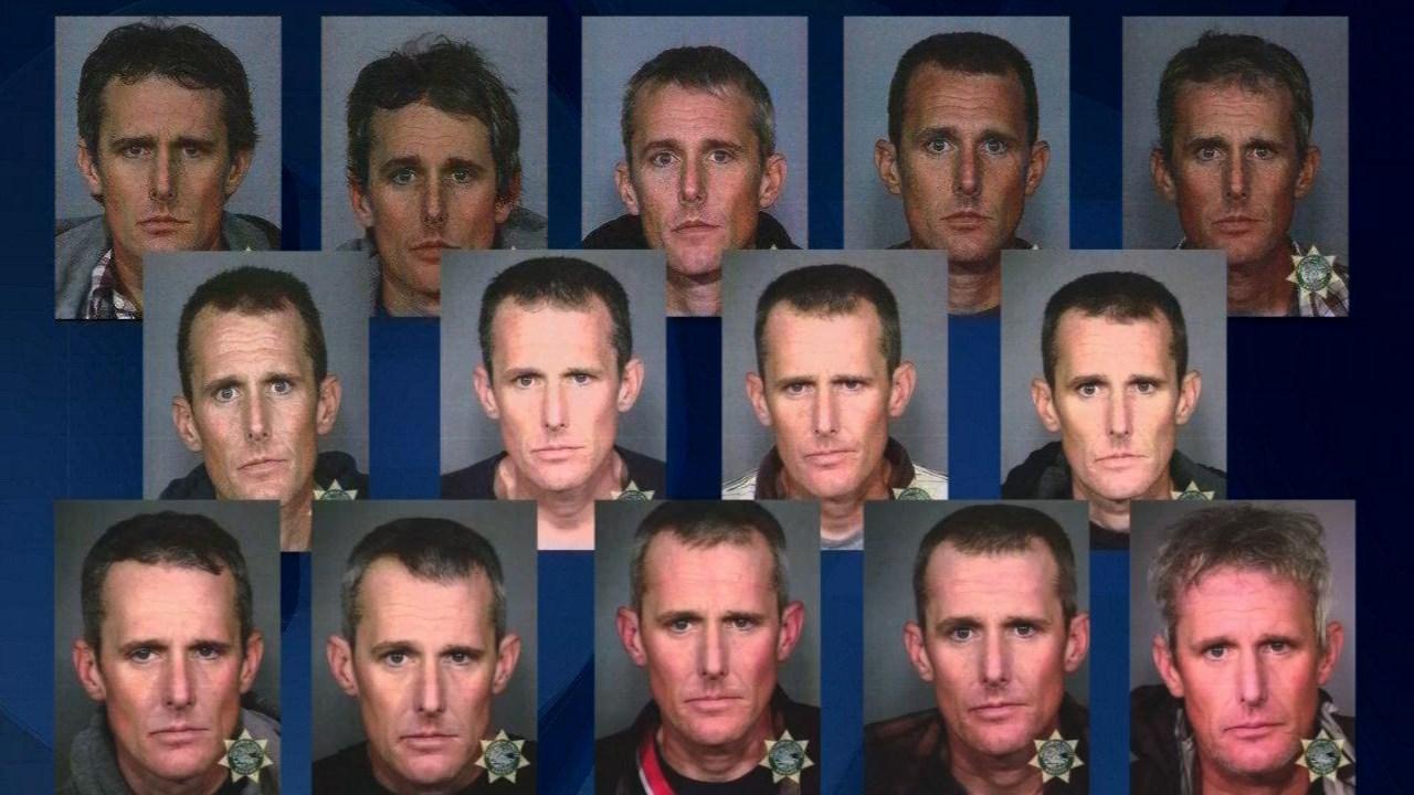 Prior jail booking photos of Robert Christopher Bagby.
