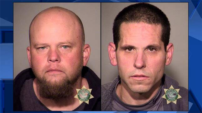 Derrick Dryden and Thomas Phelps, jail booking photos.