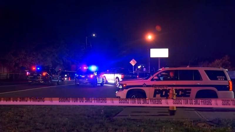 Shooting investigation in Turner in October.  (KPTV)