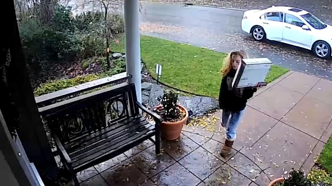 Surveillance image of Lake Oswego porch theft suspect