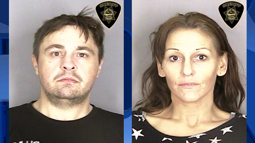 Apollo Biggs and Sheryl Loschiavo, jail booking photos (Marion County Sheriff's Office)