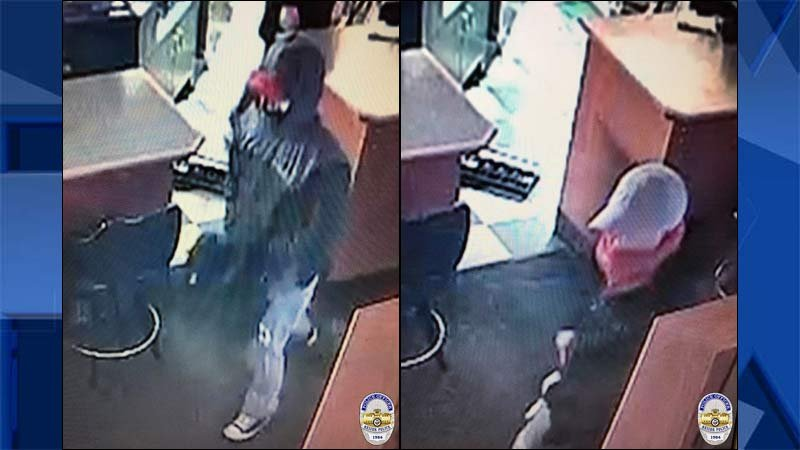 Images of robbery suspects released by Keizer police.