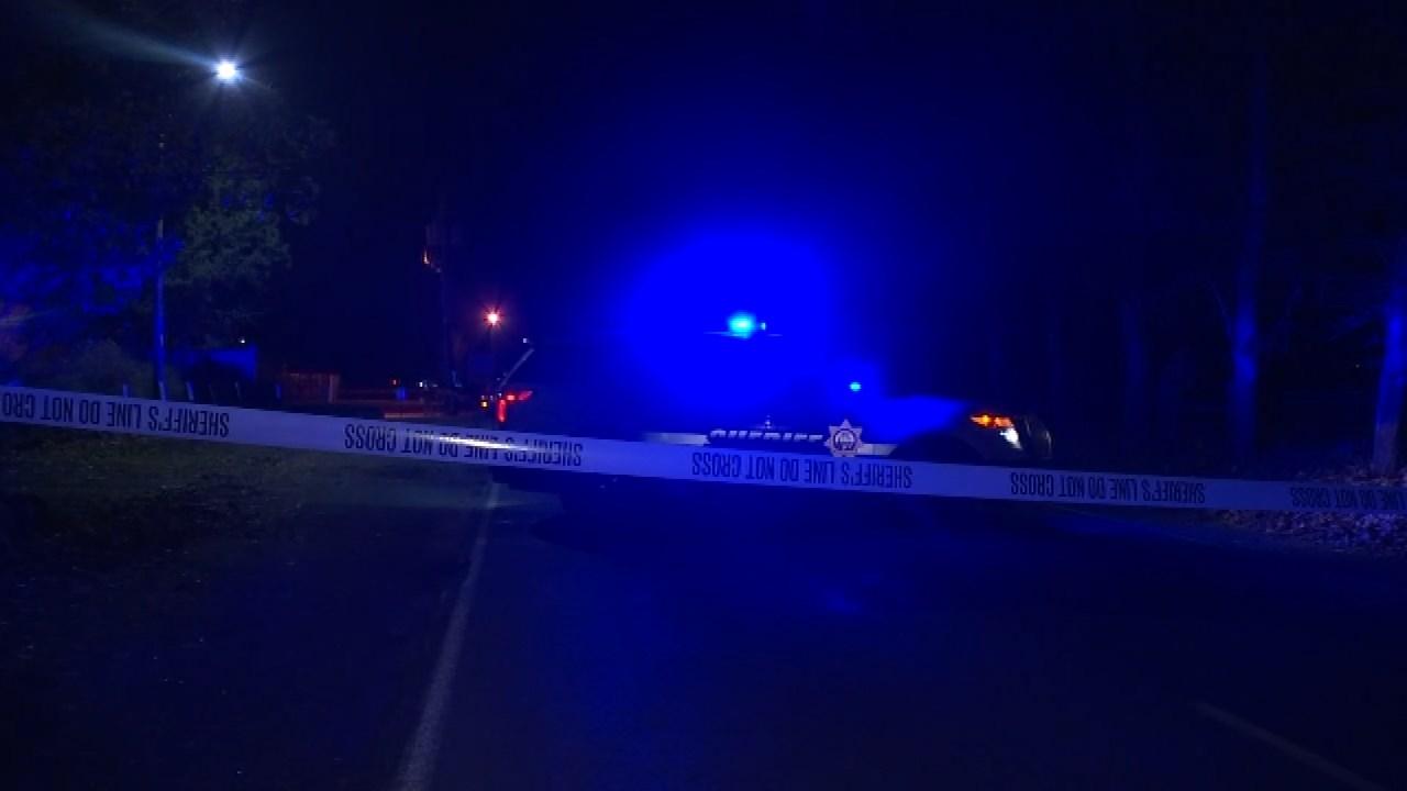 Area near shooting scene on Sauvie Island on Tuesday night. (KPTV)