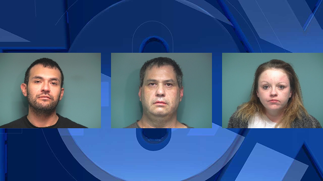 Felipe Rodriguez Jr., Ronald Selby and Monique Somora, jail booking photos. (Polk County Sheriff's Office)