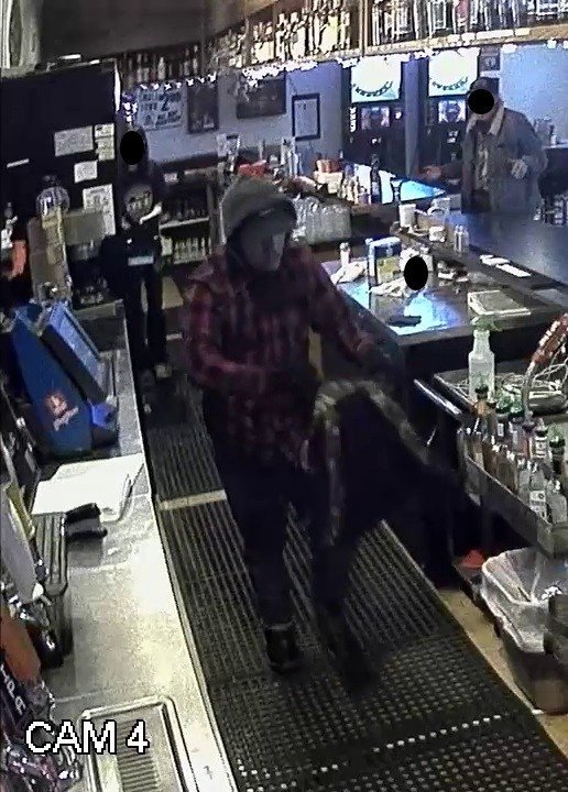 Surveillance image of robbery suspect at Jungle Room in Cornelius. (Washington County Sheriff's Office)