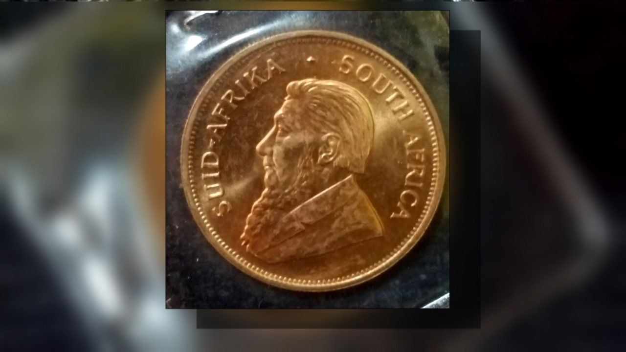 The front of the Krugerrand