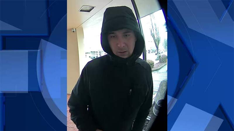 Surveillance image of Corvallis ATM robbery suspect. (Image: Corvallis Police Department)