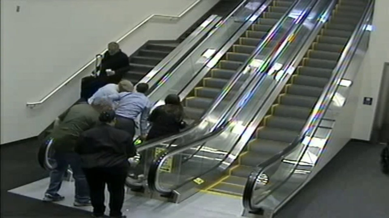 Family suing Alaska Airlines, contractor for woman's fall down airport escalator