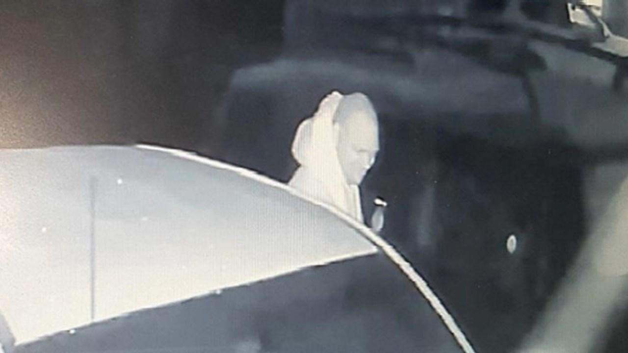 Surveillance image of Keizer car prowler suspect.