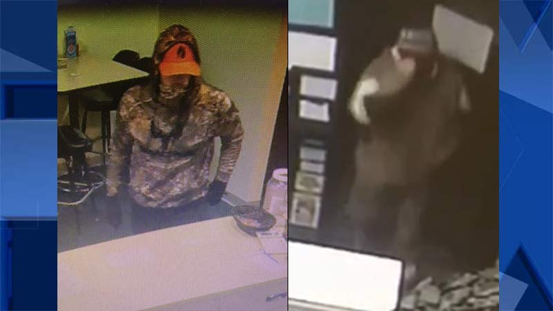 Surveillance images of serial robbery suspect. (Beaverton Police Department)