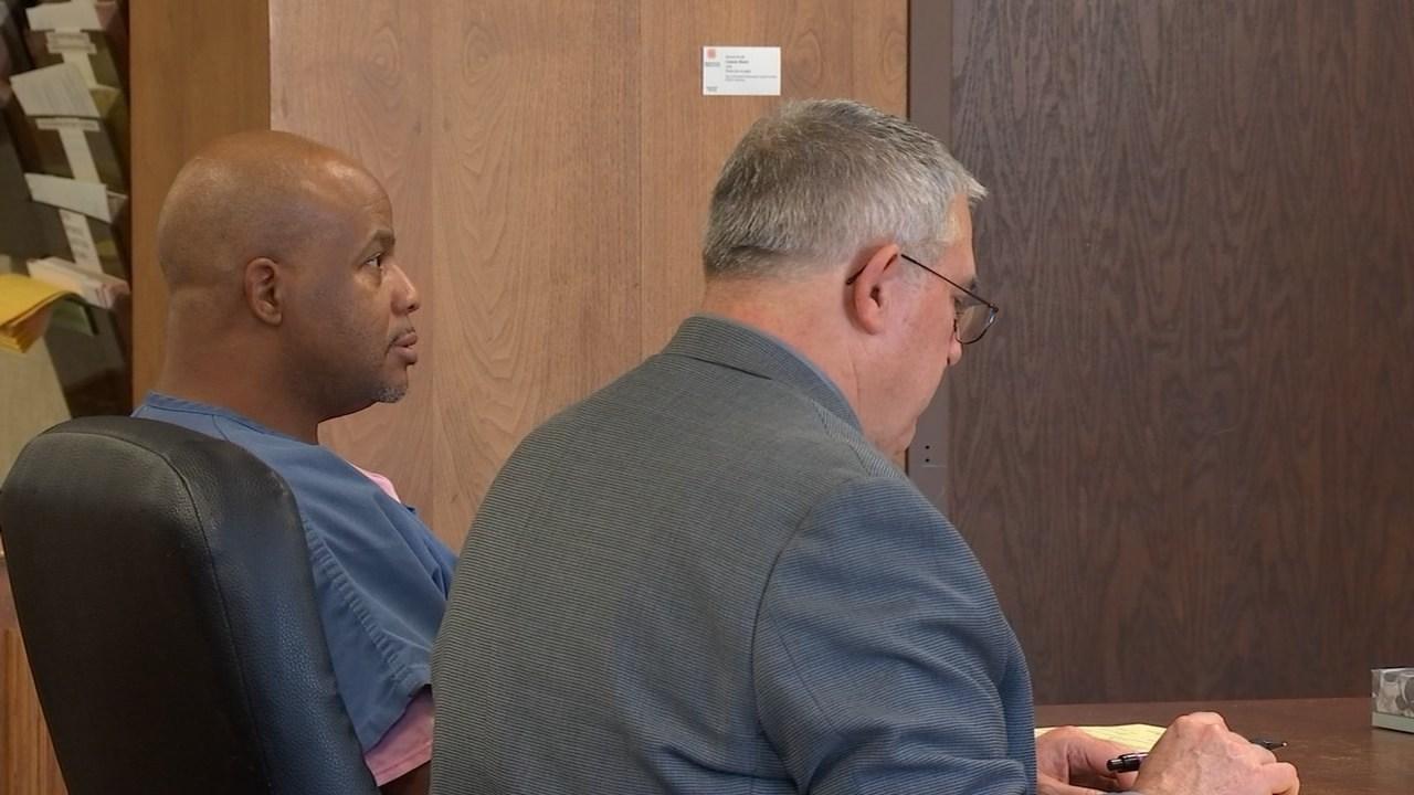 Derek Jones in court on Wednesday (KPTV)