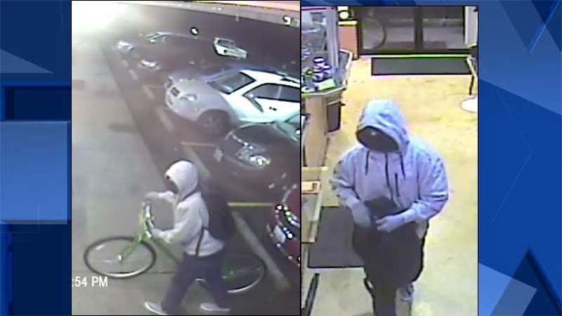 Surveillance images of armed robbery suspect (Images: Oregon City Police Department)