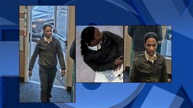 Suspect Lonnell Lasso (Surveillance images from Portland Police Bureau)