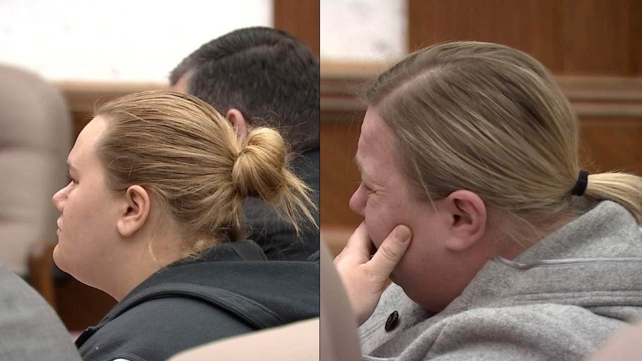 Skylar Stevens, Melissa Stevens in court Friday (KPTV)