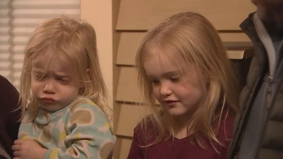 Portland 6-year-old Harper McClure (right) said she worked very hard on thank-you cards for people who had given her Christmas gifts before they were stolen from her family's mailbox. (KPTV)