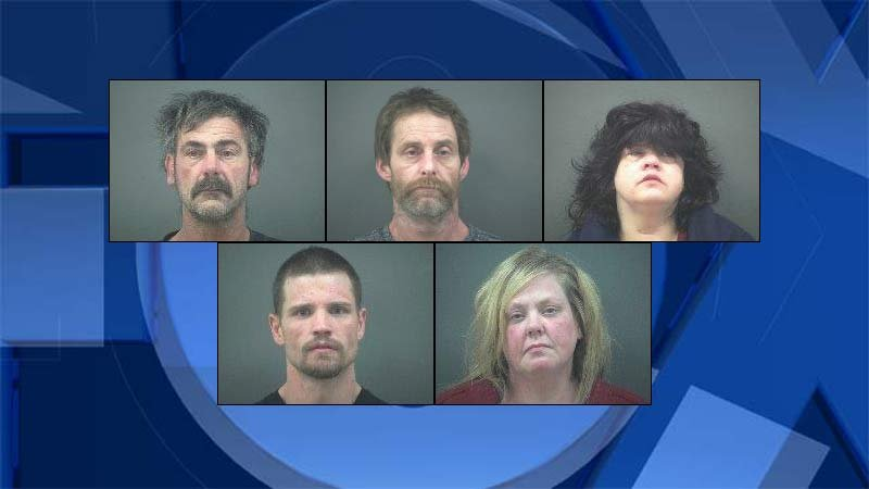 Jail booking photos from Newport Police Department.