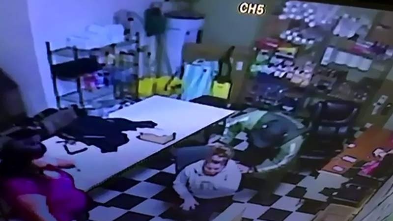 Image from surveillance video at DeDe's Deli in Salem (Multnomah County Sheriff's Office)