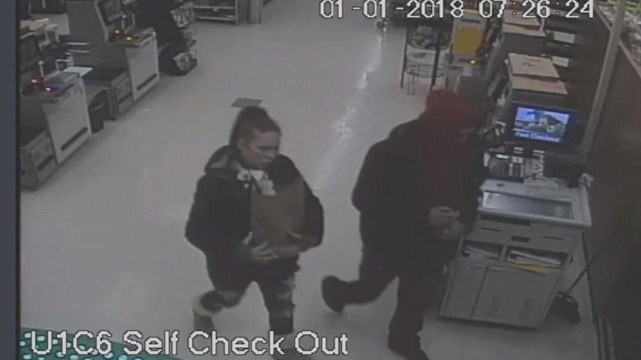 Surveillance video of theft suspects.