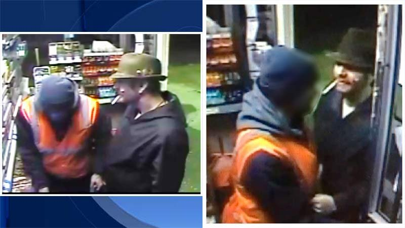 Surveillance images of Tigard armed robbery suspect. (Tigard Police Department)