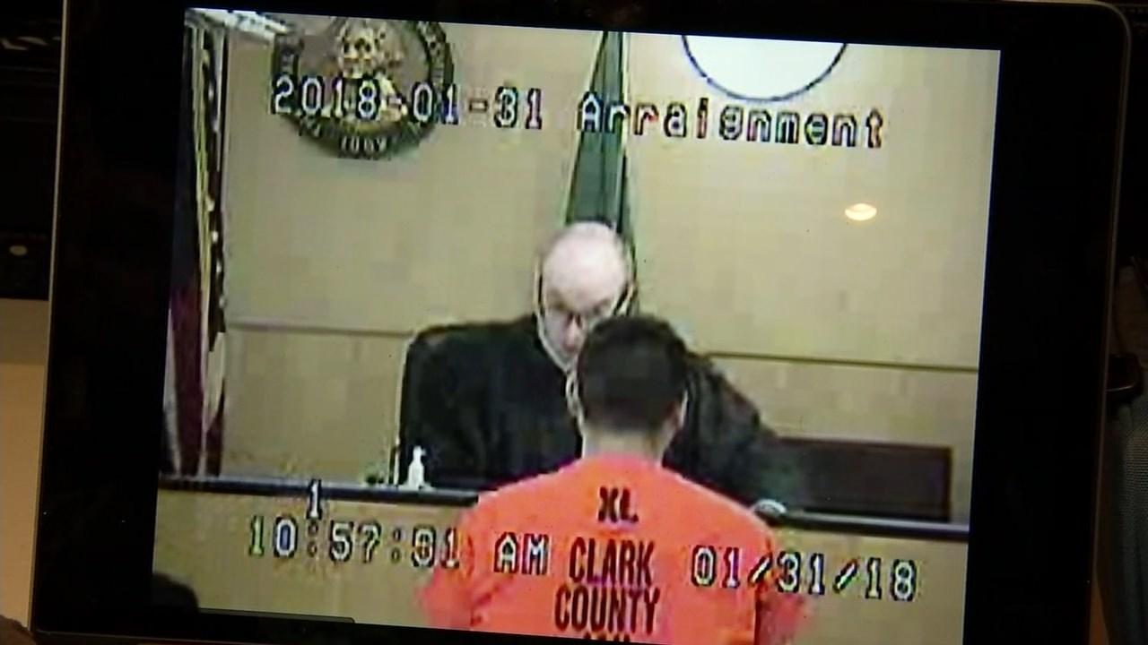 Adrian Diaz-Aguilar in court this week. (Clark County)
