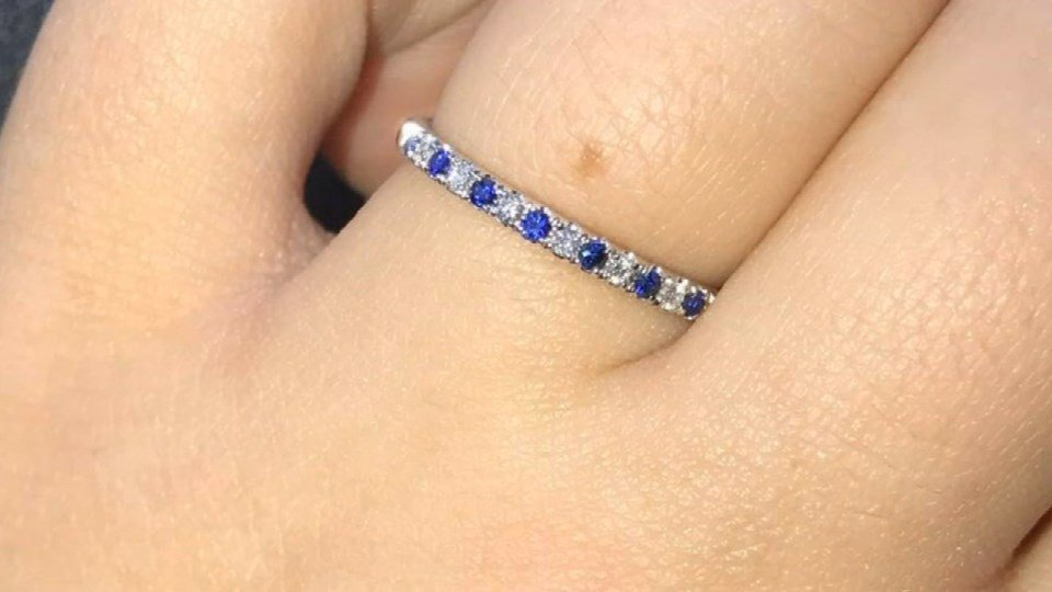 Bailey McElveny said she only set her gym bag down in a locker at a Vancouver Planet Fitness when it was stolen, adding that a diamond and sapphire ring McElveny received from her boyfriend serving in  Afghanistan was inside. (KPTV)