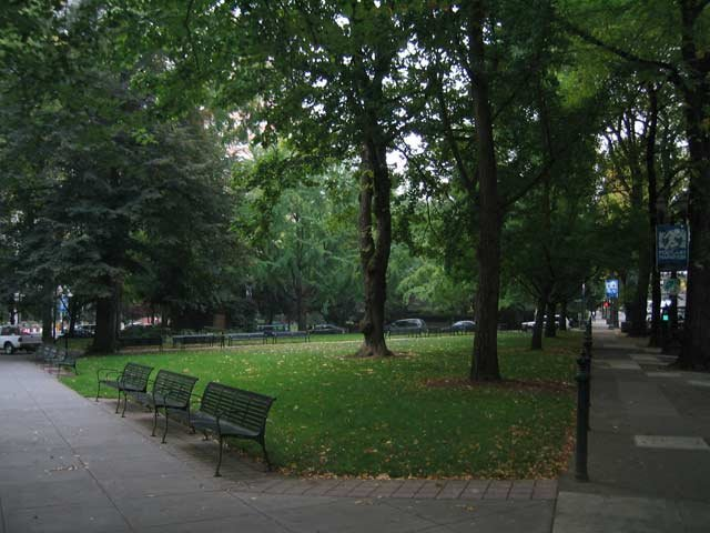 Lownsdale Square, prior to Occupy Portland's encampment. Photo courtesy: Portland Parks and Recreation