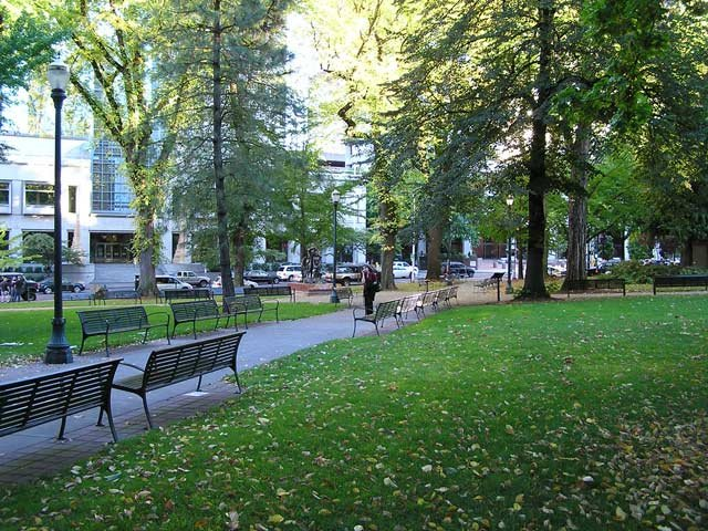 Chapman Square, prior to Occupy Portland's encampment. Photo courtesy: Portland Parks and Recreation