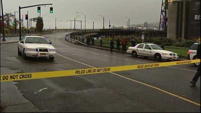 The day started with Portland police shutting down the Steel Bridge.