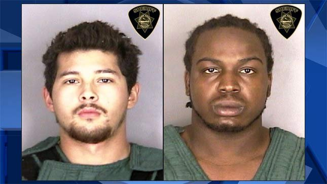 Eloy Carrera and Denzel Hawthorne, jail booking photos