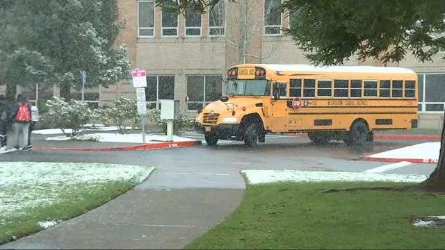 Beaverton students happy to get a surprise snow day