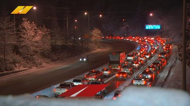 Traffic backup causing headaches for drivers on Highway 26
