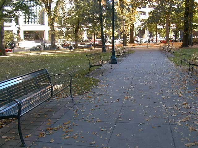 Chapman Square, prior to Occupy Portland's encampment. Photo courtesy: Portland Parks and Recreation