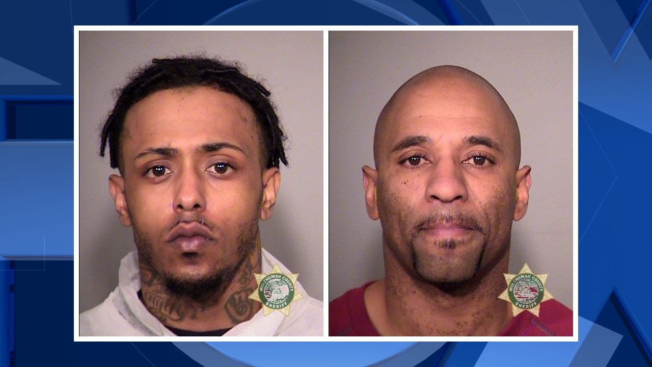 Hill and Metcalfe booking photos (Image: Portland Police Bureau)
