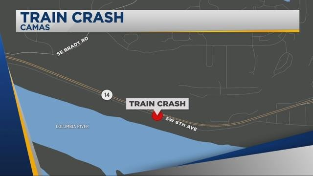 Police: Man drove car onto train tracks in Camas, watched as train hit the car
