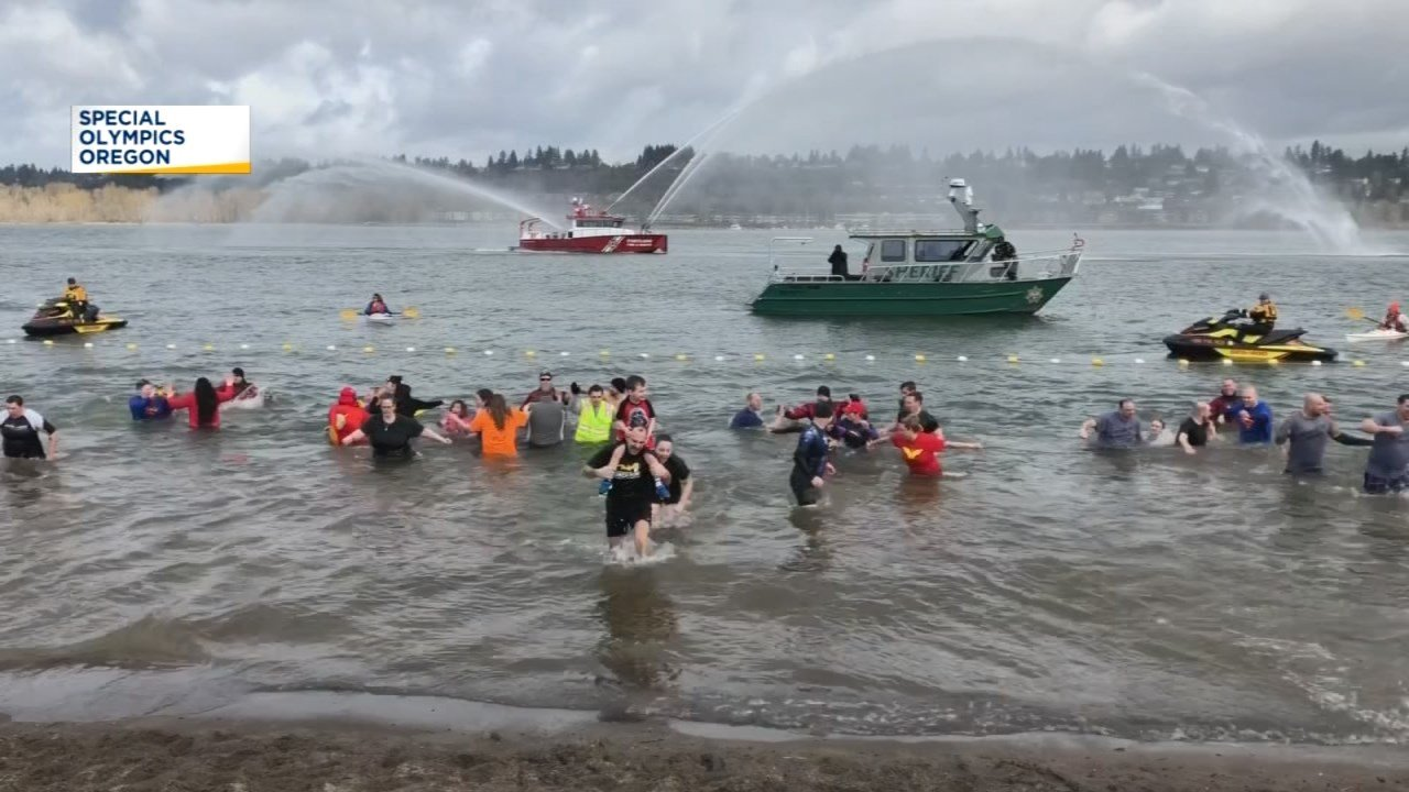Polar plunge participants fearless  the cold to help Special Olympics