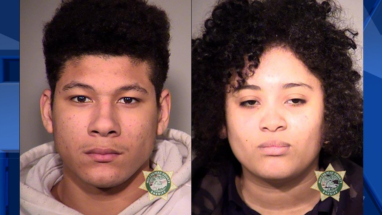 Tolson (L) and Loveheart (R) booking photos