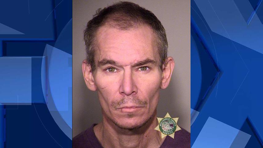Timothy B. Axsom, jail booking photo (Portland Police Bureau)