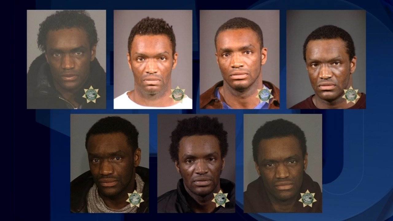Multnomah County Jail booking photos of Terry Bryant from 1999-2002.