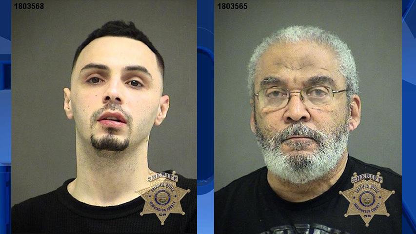 Joshua Lucero and Joseph Bragg, jail booking photos (Washington County Sheriff's Office)